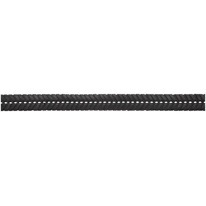 Bottega Veneta Black Braided Belt
