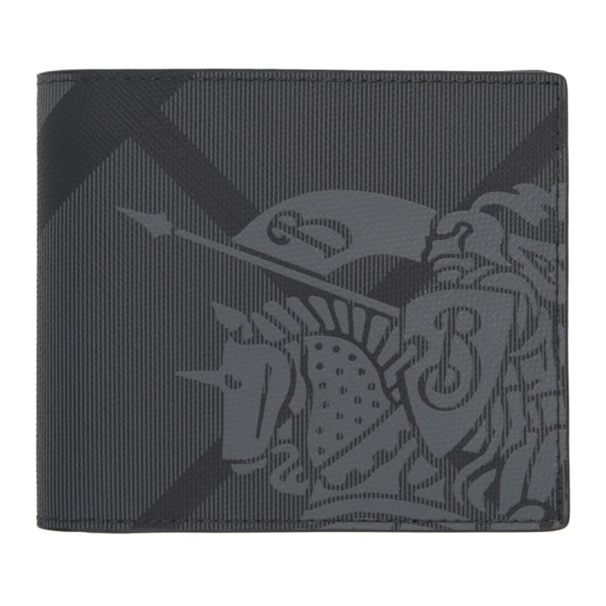 Photo: Burberry Grey and Black London Check EKD Bifold Wallet