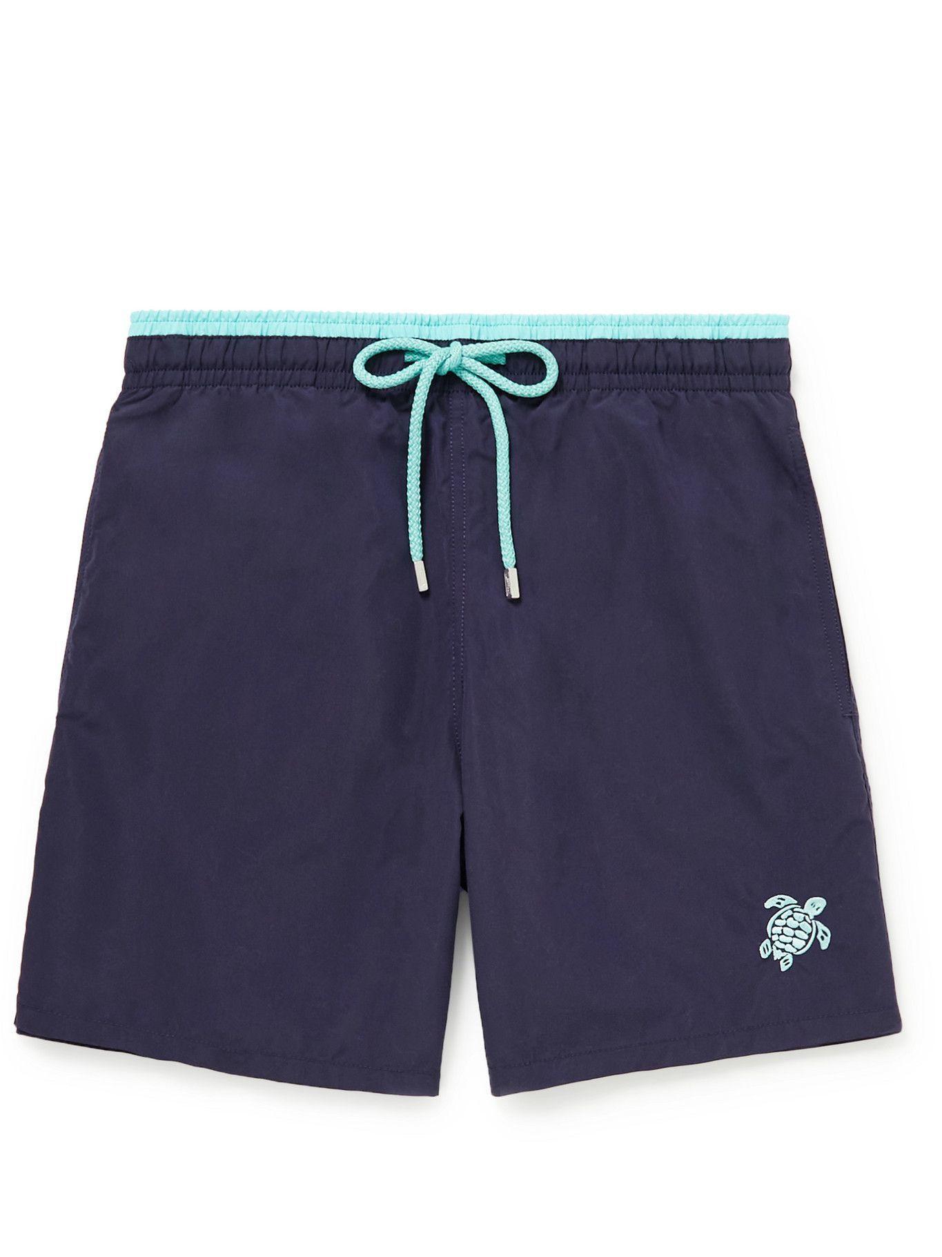 Photo: VILEBREQUIN - Moka Mid-Length Embroidered Swim Shorts - Blue