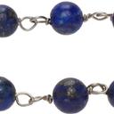 Giorgio Armani Blue & Silver Bead Bracelet