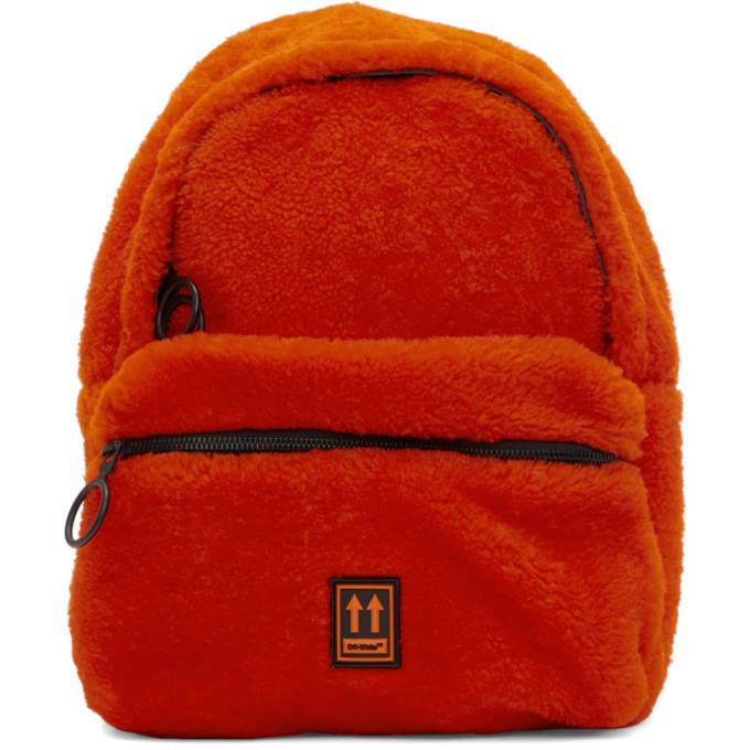 Photo: Off-White Red Sherpa Mini Backpack