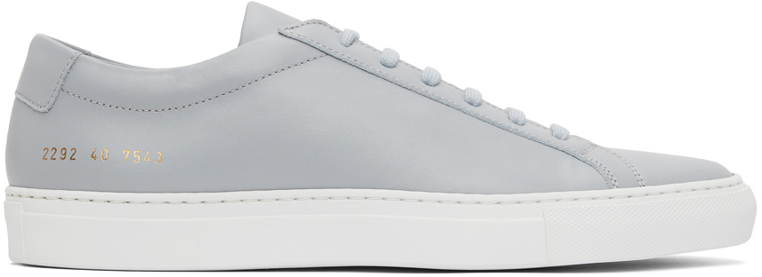 Photo: Common Projects Grey Original Achilles Low Sneakers