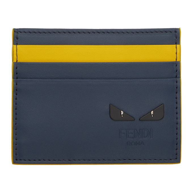 Photo: Fendi Navy and Yellow I See You Card Holder