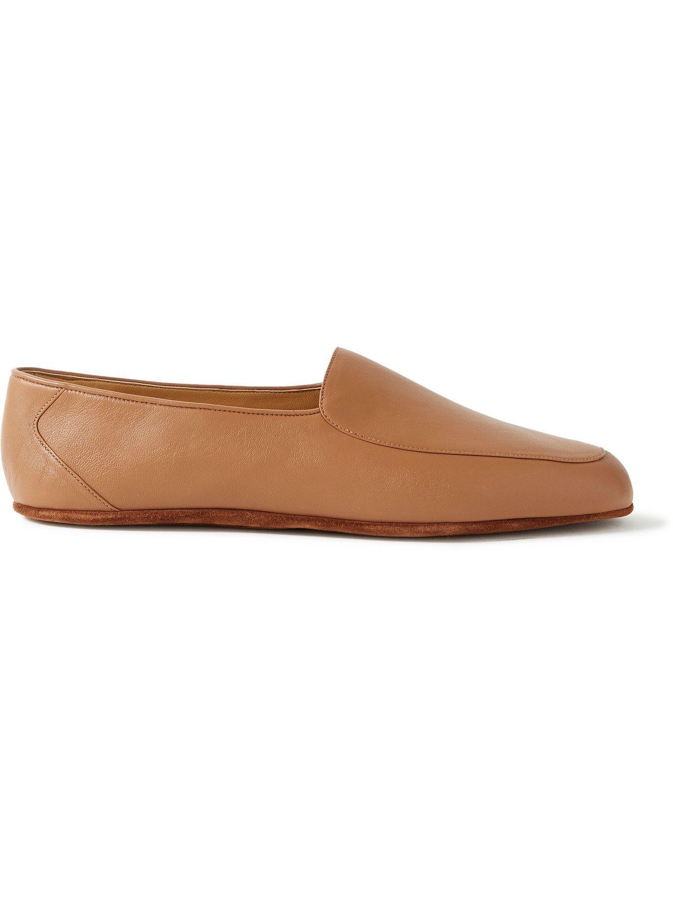 Photo: John Lobb - Hampton Leather Travel Slippers - Brown