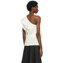 3.1 Phillip Lim Off-White Ruffled One Shoulder Blouse