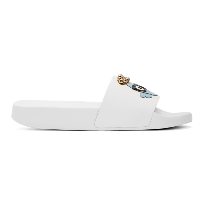 Photo: Dolce and Gabbana White Angelic Designers Slides