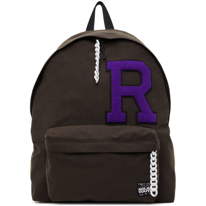 Photo: Raf Simons Brown Eastpak Edition R Patch Pakr Backpack