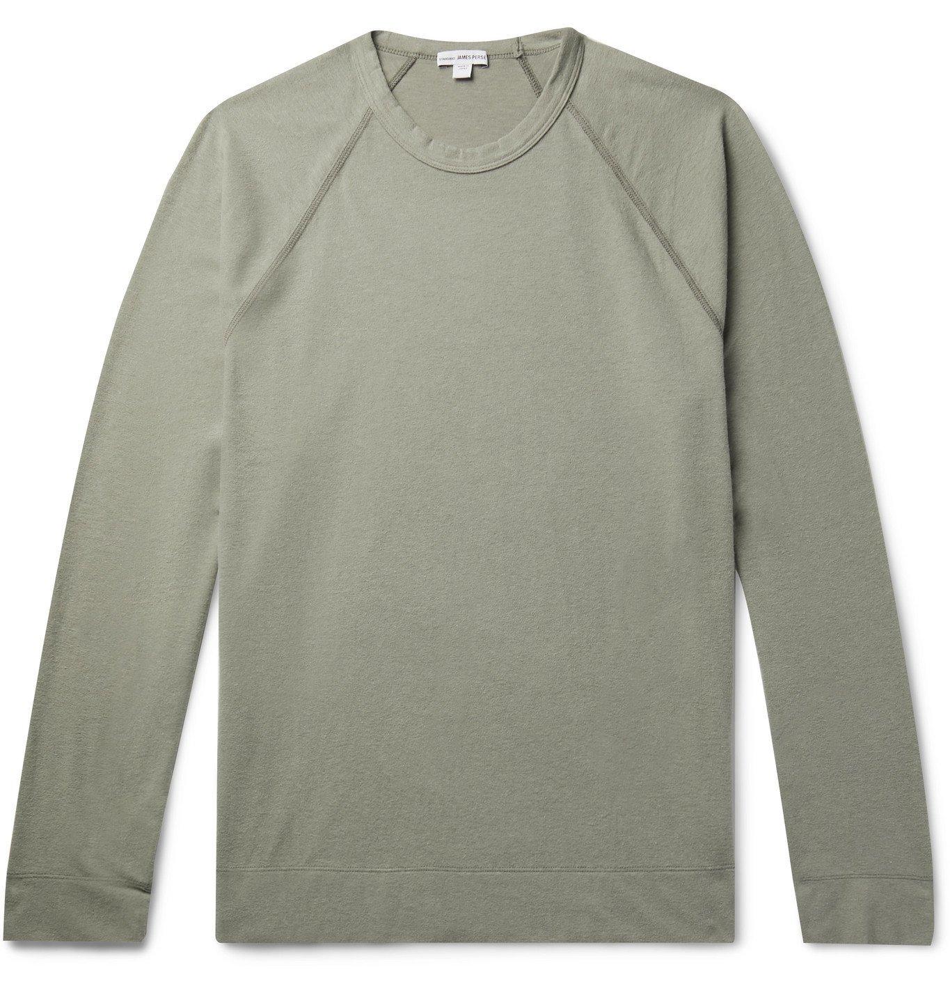 Photo: James Perse - Brushed Cotton-Blend Jersey T-Shirt - Neutrals
