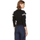 3.1 Phillip Lim Black Ruffle Sleeve Sweater