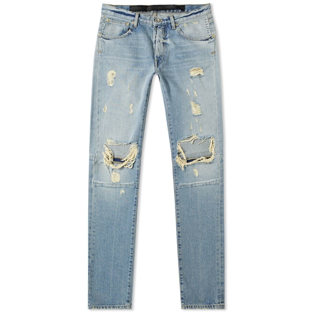 Photo: Unravel Project Distressed Skinny Jean Washed Blue