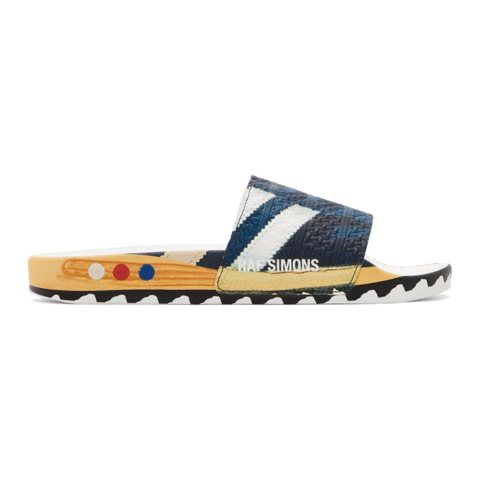 Photo: Raf Simons Navy adidas Originals Edition L.A. Adilette Slides