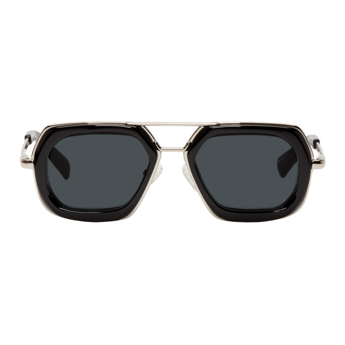 Photo: Dries Van Noten Black and Silver 173 C1 Sunglasses