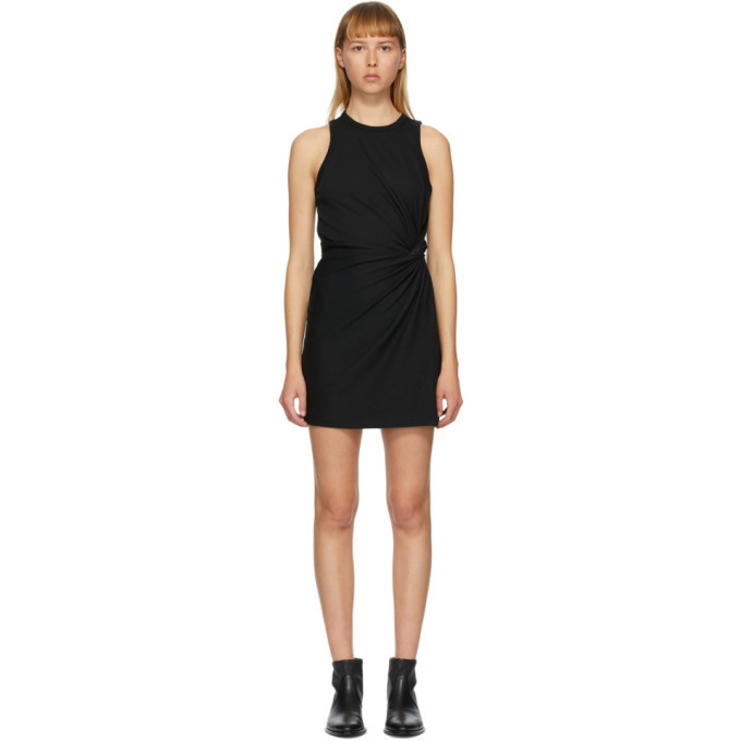 Photo: alexanderwang.t Black Jersey Fitted Twist Short Dress