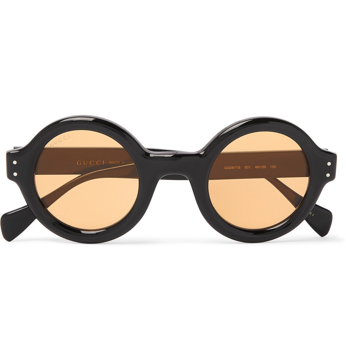 Photo: Gucci - Round-Frame Acetate Sunglasses - Black