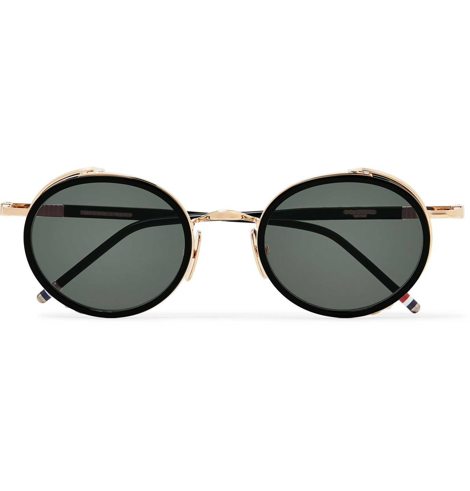 Photo: Thom Browne - Round-Frame Gold-Tone and Enamel Sunglasses - Gold