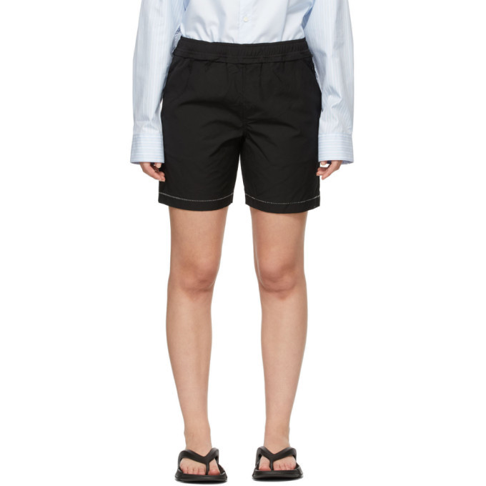 Photo: ADER error Black Distressed Shorts