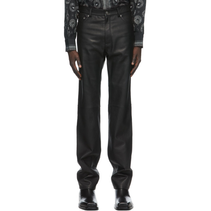 Photo: Givenchy Black Leather Trousers