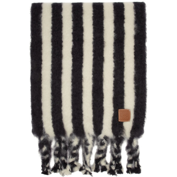 Photo: Loewe Black and White William De Morgan Mohair Scarf