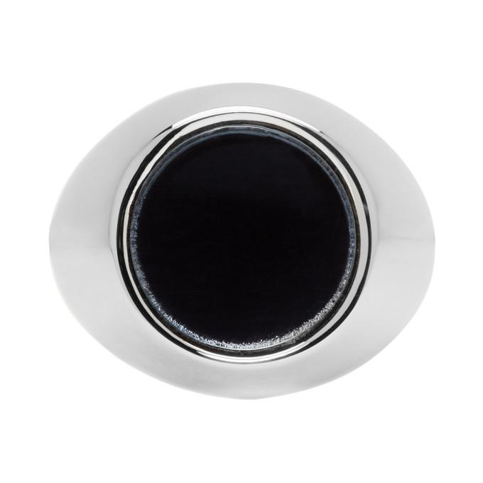 Photo: Jil Sander Silver and Grey Flat Mirror Ring