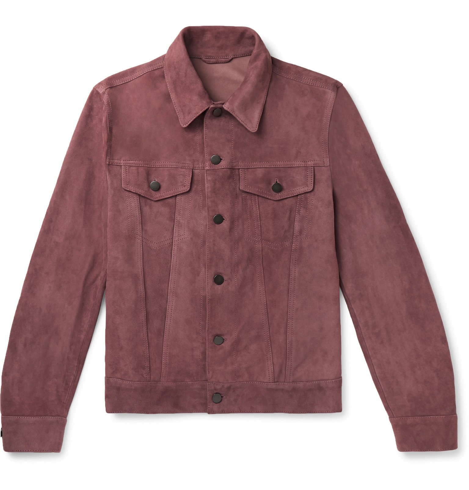 Photo: Valstar - Slim-Fit Suede Trucker Jacket - Pink