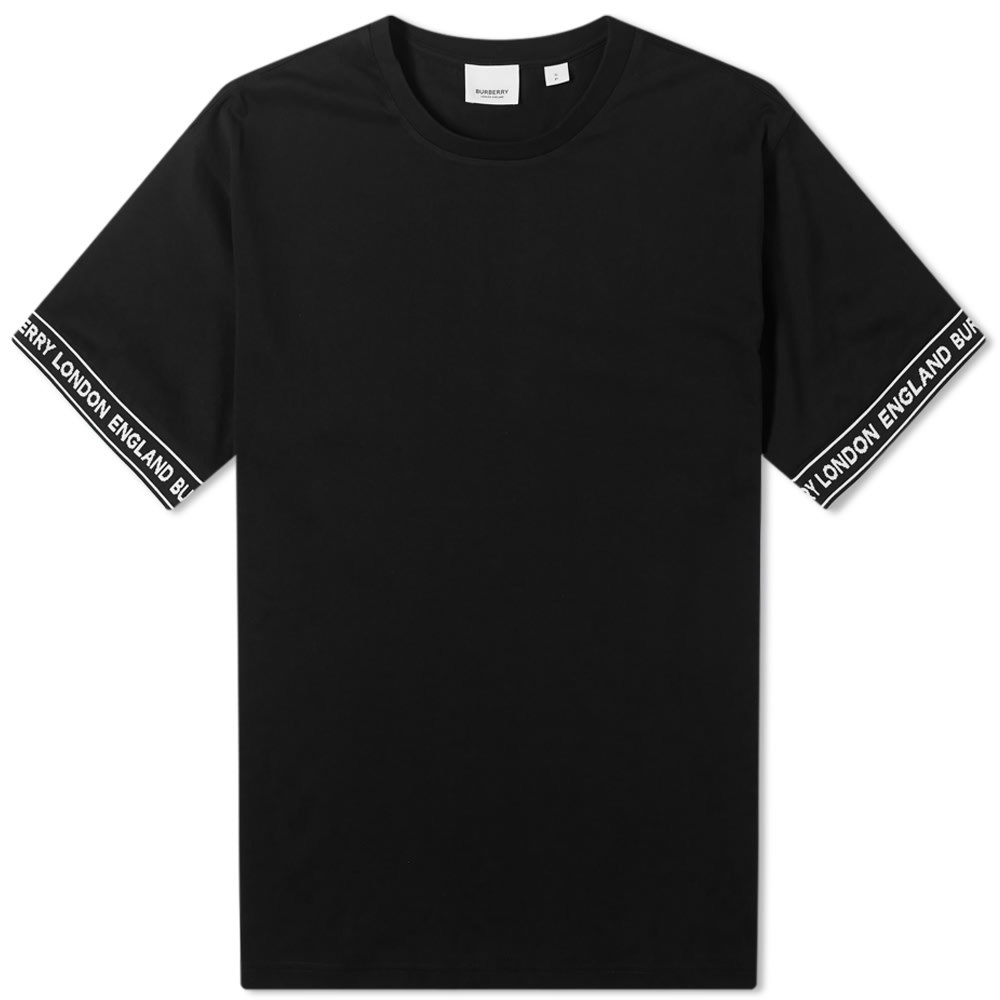 Photo: Burberry Oversized Teslow Taped Sleeve Tee