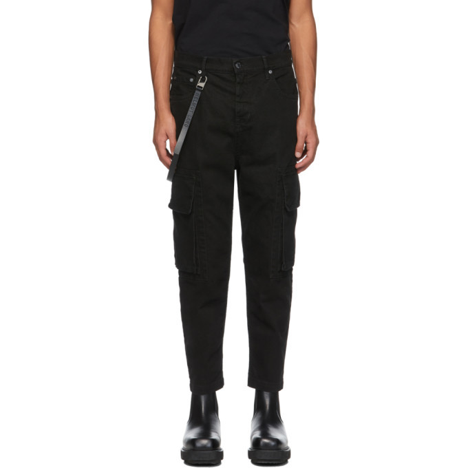 Photo: Helmut Lang Black Cropped Cargo Jeans