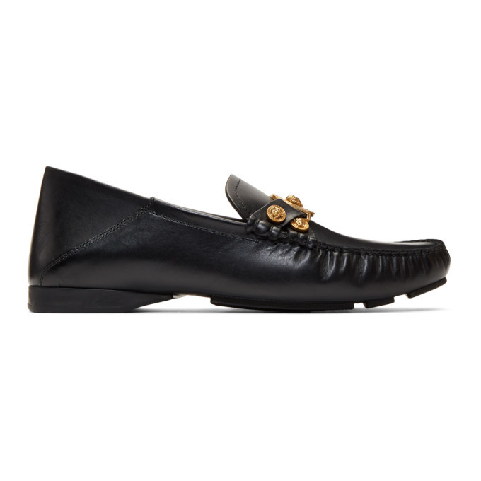 Photo: Versace Black Tribute Driver Loafers
