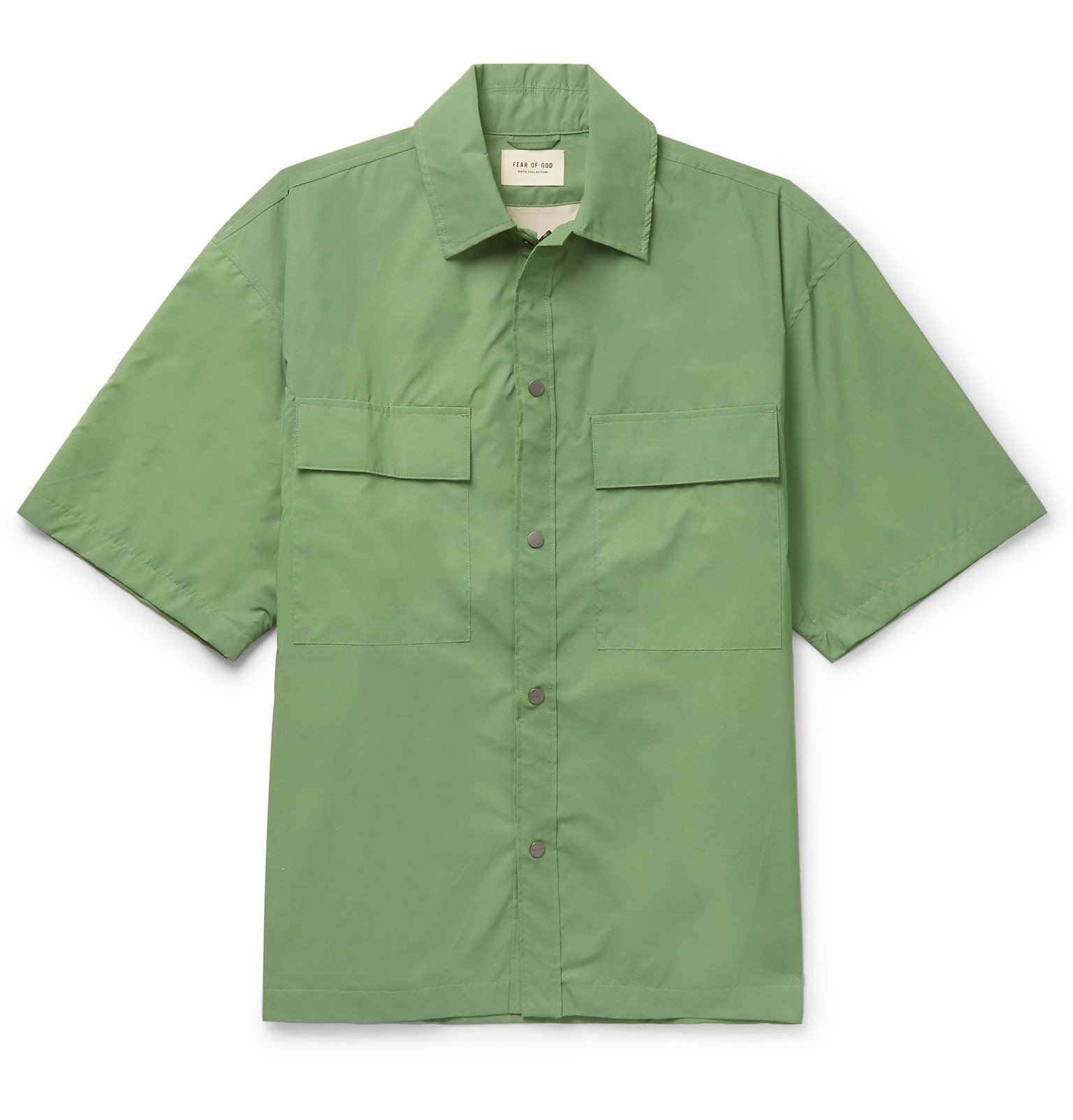 Photo: Fear of God - Iridescent Nylon Overshirt - Green