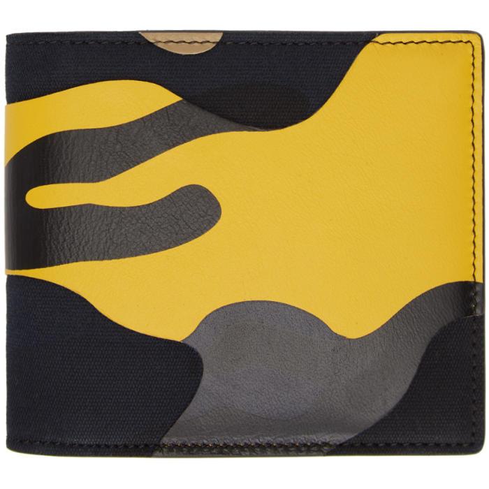 Photo: Valentino Yellow and Black Valentino Garavani Camo Wallet