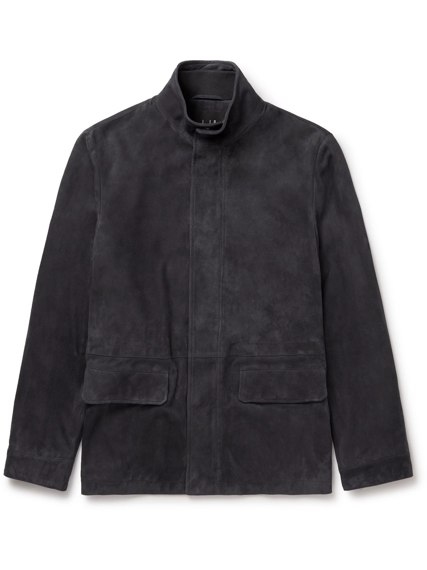 DUNHILL - Suede Field Jacket - Gray