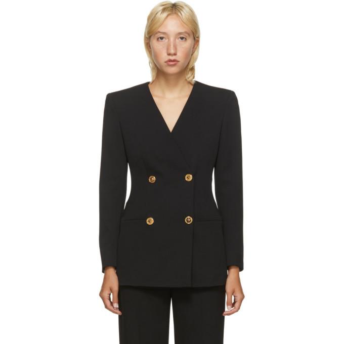 Versace Black Double Breasted Blazer Dress