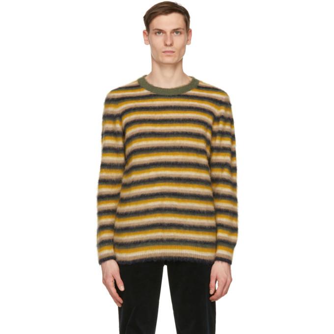 Photo: Wood Wood Yellow Striped John Sweater