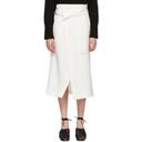 3.1 Phillip Lim White Twill Wrap Skirt