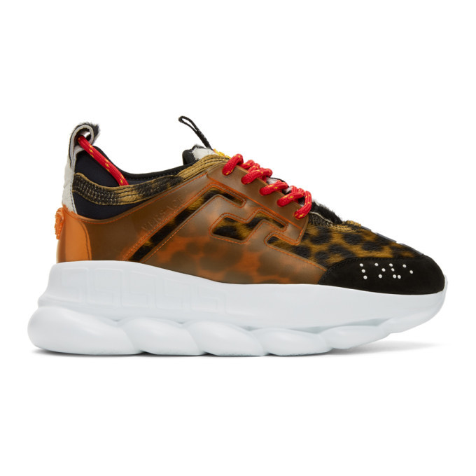 Photo: Versace Multicolor Animalier Chain Reaction Sneakers