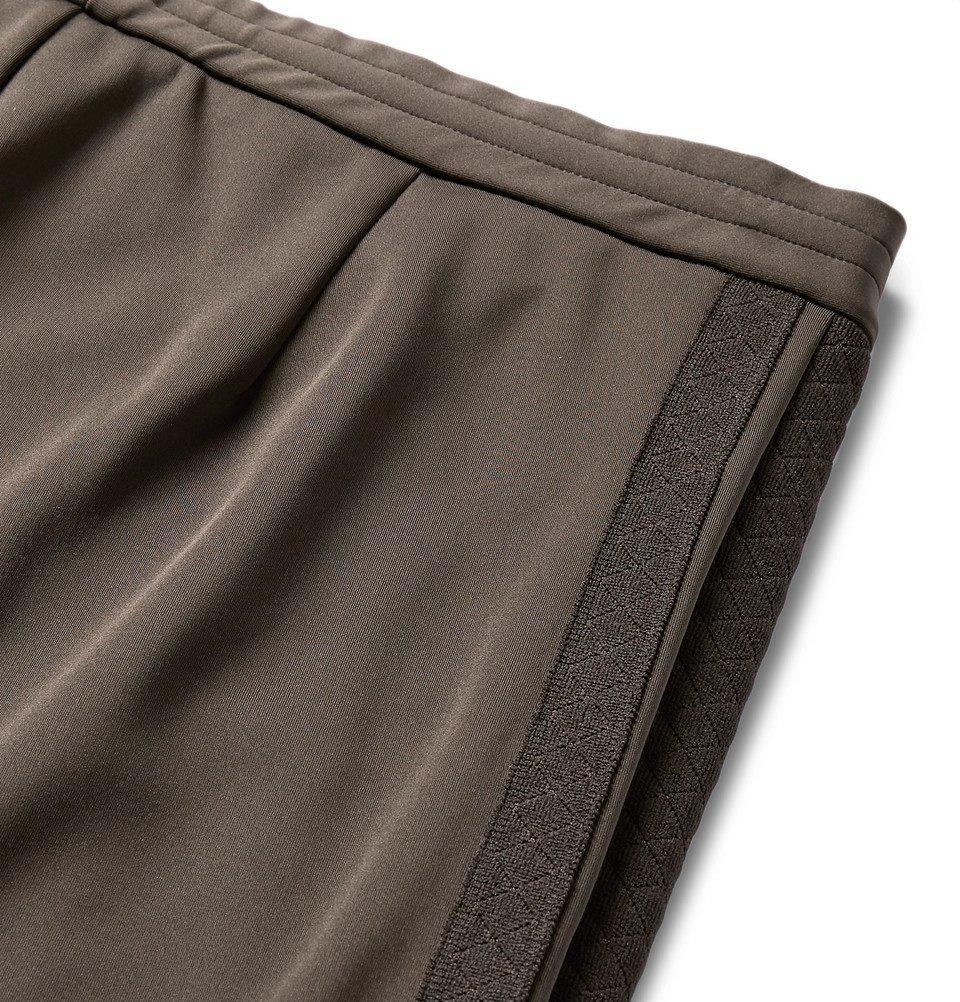 Bottega Veneta - Slim-Fit Jacquard-Trimmed Tech-Jersey Sweatpants - Men - Army green