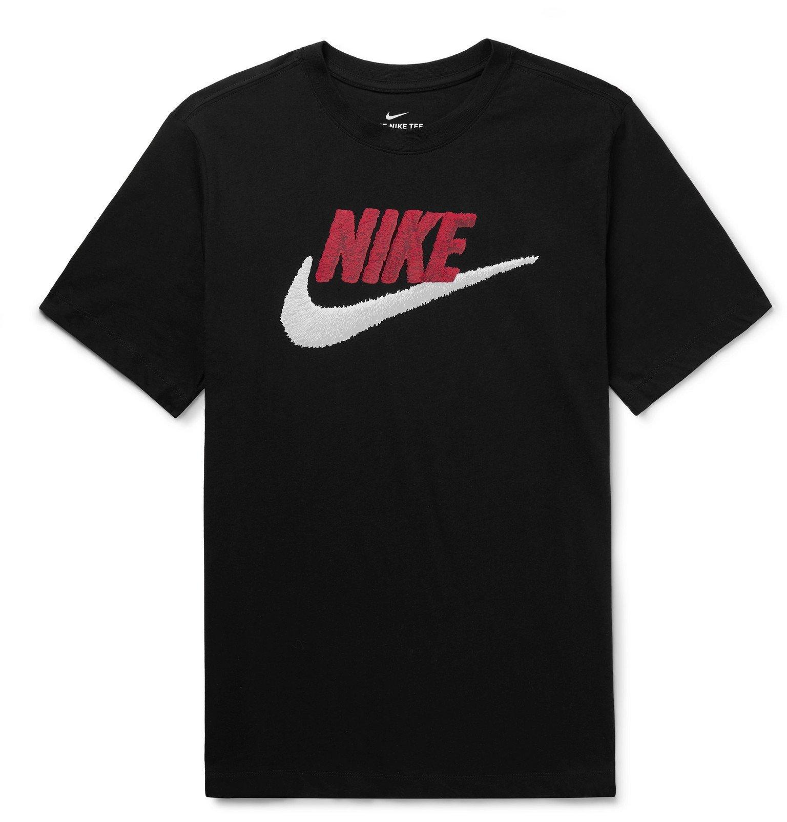 Photo: Nike - Logo-Print Cotton-Jersey T-Shirt - Black