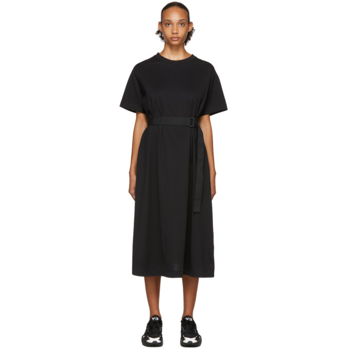 Photo: Y-3 Black Tailored T-Shirt Dress