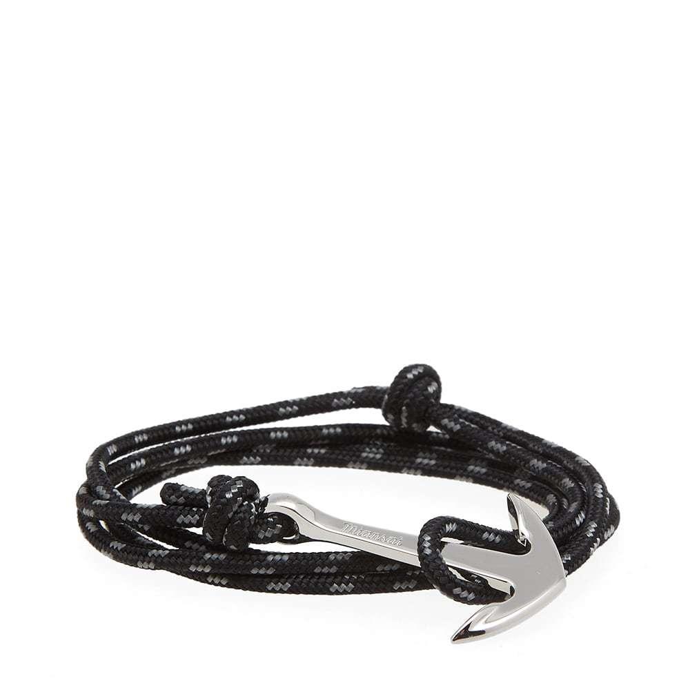 Photo: Miansai Silver Anchor Rope Bracelet