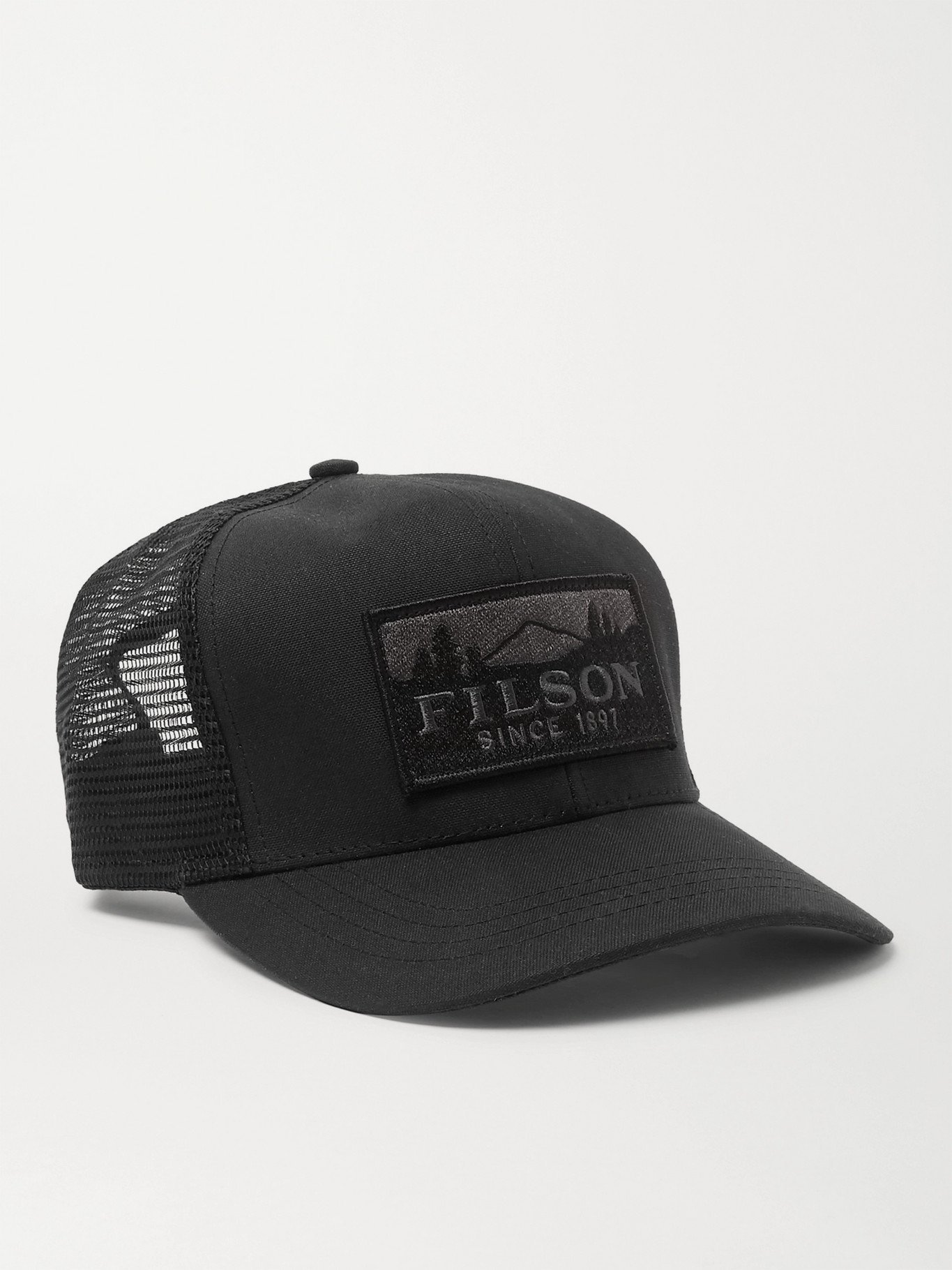 Photo: FILSON - Logger Logo-Appliquéd Cotton-Twill and Mesh Baseball Cap