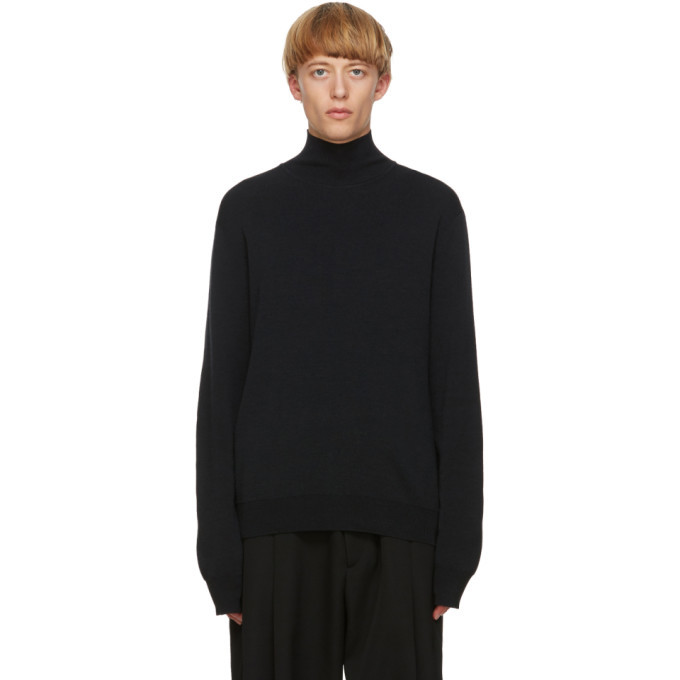 Photo: Jil Sander Black Wool Turtleneck