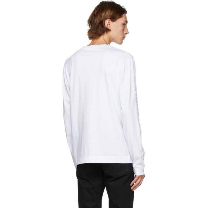 1017 ALYX 9SM White Double Logo Long Sleeve T-Shirt