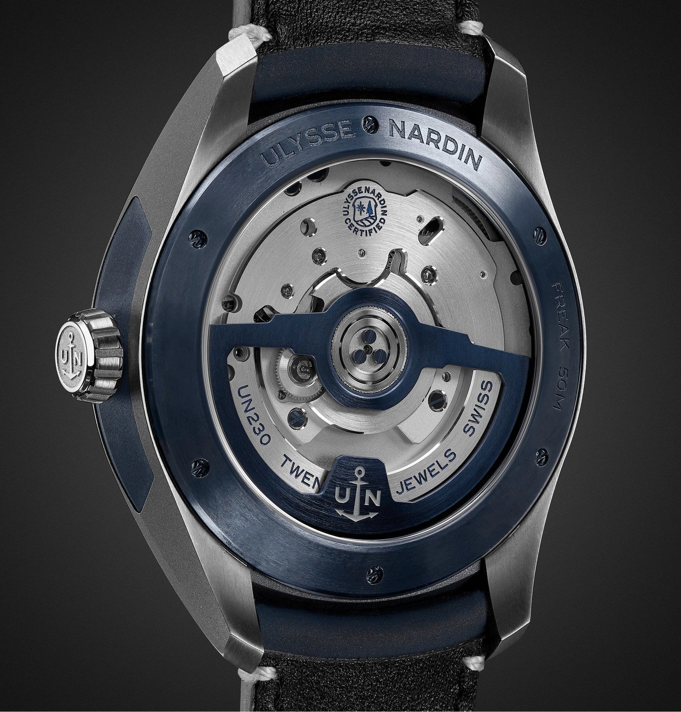 Ulysse Nardin - Freak X Automatic 43mm Titanium and Leather Watch, Ref. No. 2303-270.1/03 - Blue