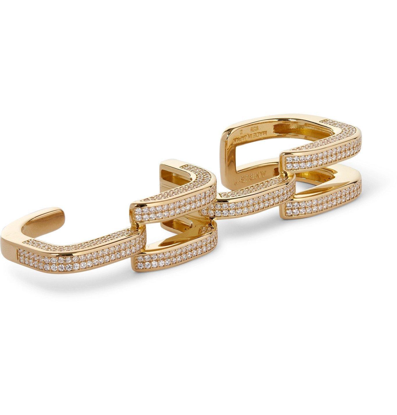 Photo: AMBUSH® - Gold-Plated Crystal Ring - Gold