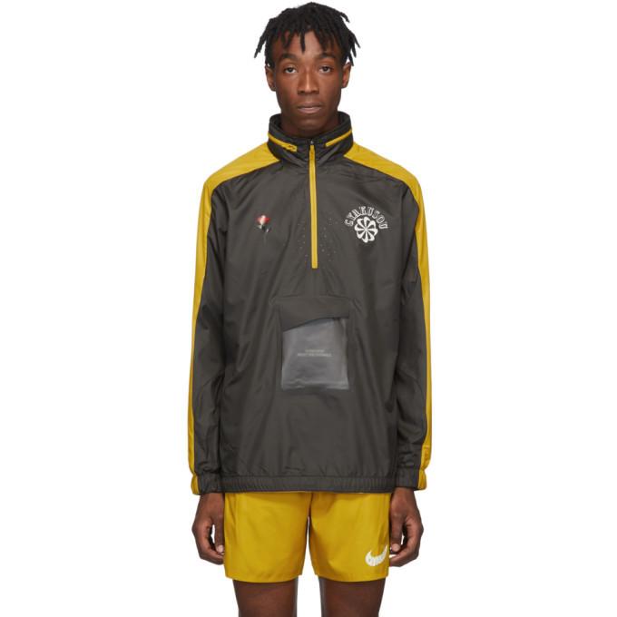 Photo: Nike Grey and Yellow Gyakusou Half-Zip Jacket