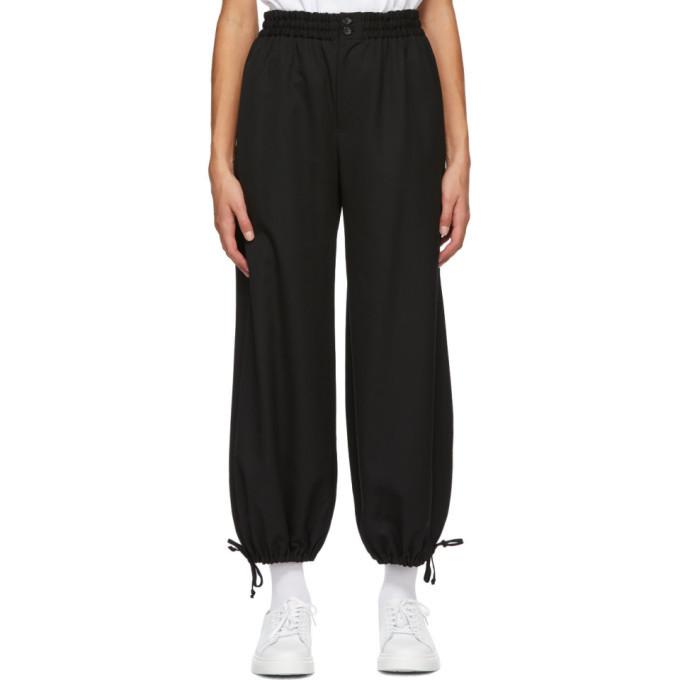 Photo: Tricot Comme des Garcons Black Wool Hem Tie Trousers