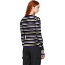 3.1 Phillip Lim Blue and Black Multi-Stripe Pullover