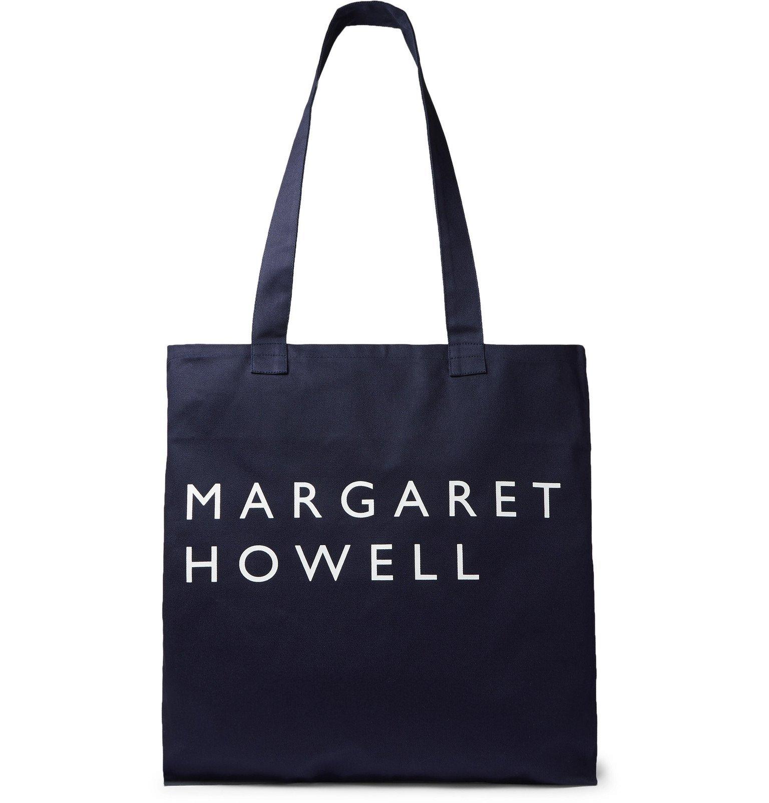 Margaret Howell - Logo-Print Cotton-Twill Tote Bag - Blue
