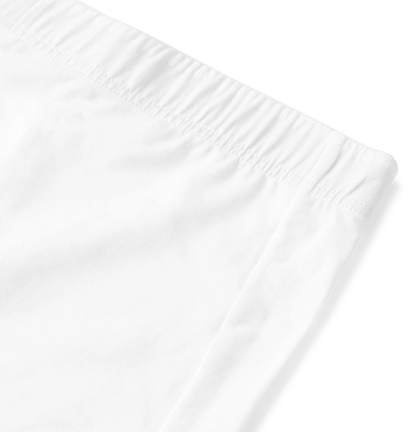 Hanro - Superior Cotton-Blend Boxer Briefs - White