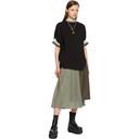 Sacai Black Pique Pullover T-Shirt