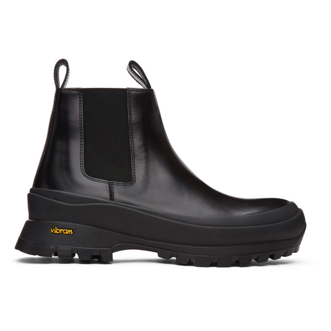 Photo: Jil Sander Black Calfskin Chelsea Boots